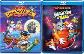 Amazon.com: Extreme Cat & mouse duo Cartoon Tom and Jerry Animated Movie  Rocket Blast Off to Mars/ Shiver Me Whiskers Pirate Adventure Double Fun  Hana-Barbera Blu Ray Pack: Various, Various: Movies &