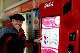 Coca Cola Interactive Vending Machine Best Interactive Vending Machine On Behance