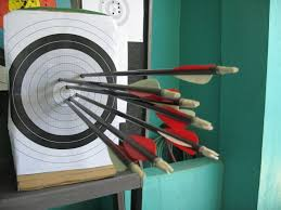 picture of diy archery target used a4 sized papers