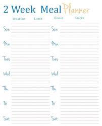 Bi Weekly Meal Planner Template Printable Bi Weekly Planner Template 3 Budget Notebook Ideas