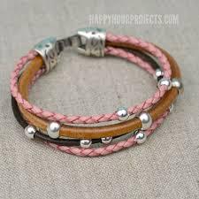 easy beaded diy leather bracelet