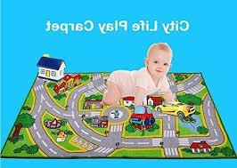 huahoo kids rug with roads kids rug play mat city street ma