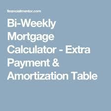 Mortgage Calculator Bi Weekly Mortgage Calculator Extra
