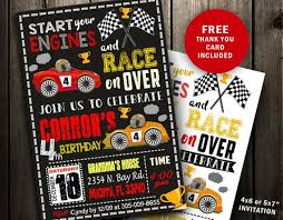 Car Birthday Invitations Race Car Birthday Invitations Race Car Invitation Race Car Birthday Party Printable Digital File Instant Download Invite Cars Racing