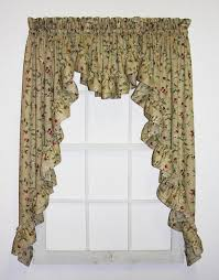 unique valances window treatments. Interesting Window Cherry Blossoms Country Print 3 Piece Ruffled Swags U0026 Filler Valance Window  Curtains Set Inside Unique Valances Treatments Toppers