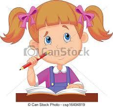 Resultado de imagen para caricatura de adolescente estudiando