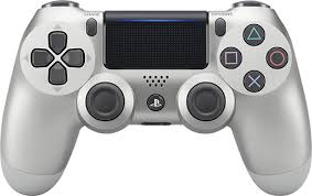 sony playstation. sony - dualshock 4 wireless controller for playstation silver larger front playstation n