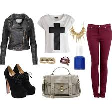cool black leather jacket outfit idea
