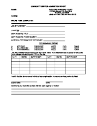 Community Service Form For Court Primary And Ordered California ...