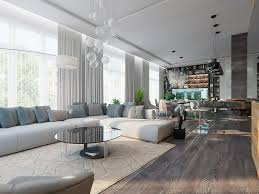 0 contemporary style open concept living dining room