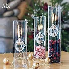 clear glass oil lamp chimney room light creative decor kerosene burner 15cm