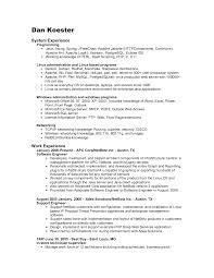 Resume Network Engineer Resume