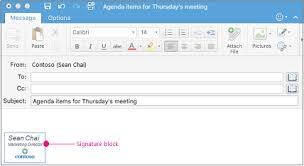 Outlook Mac Email Template Create And Insert A Signature In Outlook For Mac Office