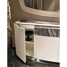 calabria stainless steel lacquered marble italian sideboard calabria stainless steel