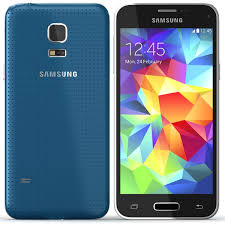 samsung galaxy s5. samsung galaxy s5 g800h dual sim blue mini is shaped in the same design language as with perforated soft-touch back