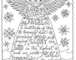 Christian Christmas Coloring Page Adult Coloring Books Art Etsy