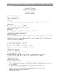 Resume Template Resume Format For Government Job Free Career