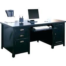 black computer desks desk with drawers martin furniture loft double pedestal wood in under glass