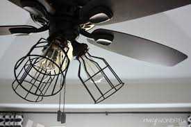 Crazy Ceiling Lights Crazy Wonderful Diy Cage Light Ceiling Fan Ceiling Fan