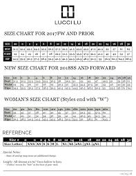 18w Size Chart Size Chart