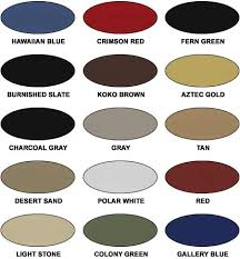 Mueller Metal Buildings Color Chart Steelco Steel Building Color Chart Steel Buildings Steel