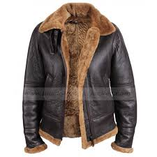 shearling er sheepskin leather jacket with hoo for womens