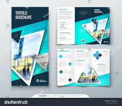 Tri Fold Brochure Design Blue Template For Tri Fold Flyer