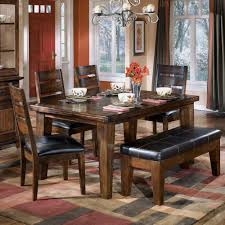 table with bench and chairs. ashley furniture trishelle dining table | with bench and chairs l