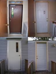 replacement exterior door for mobile home. mobile home remodels before and after | 2548_backdoor_remodel_before_and_after_1.jpg replacement exterior door for e