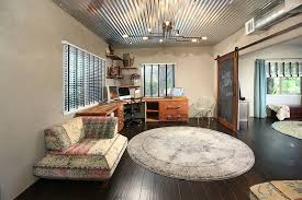 contemporary home office sliding barn. Design Ideas: Contemporary Home Office With A Sliding Barn Style Door N