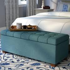 Bedroom furniture benches Dark Wood Storage Quickview Wayfair Bedroom Benches Youll Love Wayfair