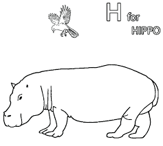 Hippo Coloring Page Hippo Coloring Page Hippo Cartoon Coloring Pages