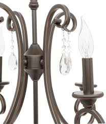 hampton bay 4 light oil rubbed bronze candle style crystal small chandelier
