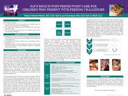 Asha Language Development Chart Asha 2018 Poster On Post Frenectomy Care Feeding