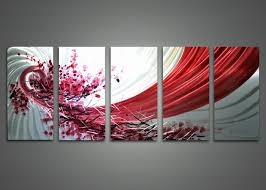 abstract red and white metal wall art 60 x 24in wall decor paintings on colorful metal wall art decor with wall decor paintings 12 images apple home decoration