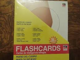 Spanish Date Chart New Spanish To English 18 Flash Cards And Wall Chart Parts Of The Body Cuerpo Ebay