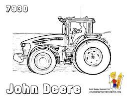 Small Picture John Deere Tractor Coloring Page chuckbuttcom