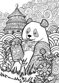 Panda Coloring Pages Jokingartcom