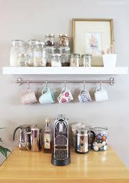 diy mug rack coffee station unique diy coffee station