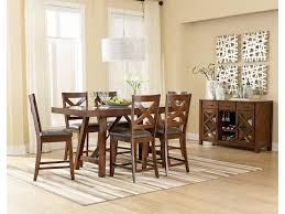 Standard Furniture Omaha Brown Counter Height 7 Piece Table Set with ...