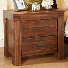 modus meadow two drawer solid wood nightstand in brick brown