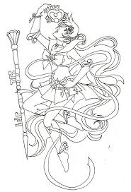 Small Picture Sailor Pluto Coloring Sheet