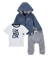 Dkny Baby Size Chart Dkny Dress Blue Heather Downtown Baby Zip Hoodie Set