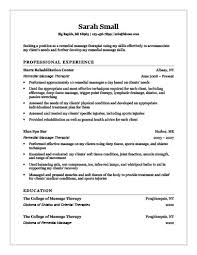 Massage Resume