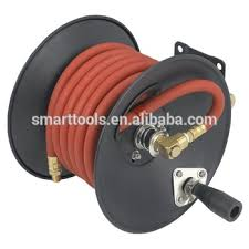 metal wall mounted garden hose reel auto roll up