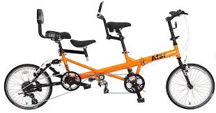 glitter af333 family tri folded tandem bike 20 wheel with