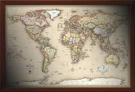 framed wall maps