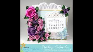 3d Paper Flower Calendar How To Make A 3d Paper Rose