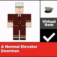 roblox elevator doorman roblox