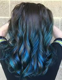 Subtle Blue Highlights 70 Fabulous Ideas For Dark Brown Hair With Highlights Jewe Blog
